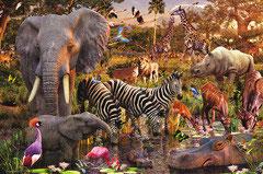 Animaux  du continent africain  (puzzle 3000 pièces)