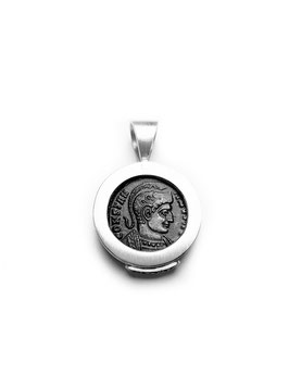 Antike Zeugnisse Anhänger KONSTANTIN STR Trier RIC 7-341 Silber