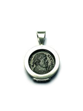 Antike Zeugnisse Anhänger KONSTANTIN VOTIS Trier RIC 7-369 Silber
