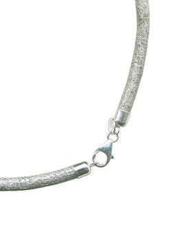 Halskette aus Welsleder, Grau, 7 mm