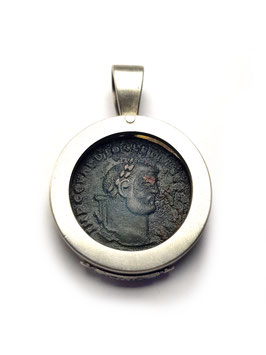 Antike Zeugnisse Anhänger MAXIMIANUS 02 Trier Silber