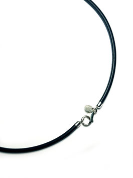 Lederkette (Kernleder), Schwarz, 4 mm
