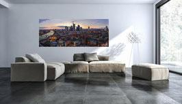 Skyline Frankfurt auf Alu Dibond® in 200 cm