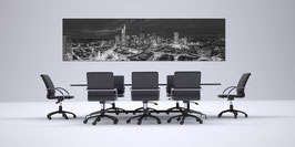 Skyline Frankfurt Schwarzweiss  auf Alu Dibond® in 300 cm