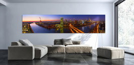 Skyline Frankfurt auf Alu Dibond® in 300 cm
