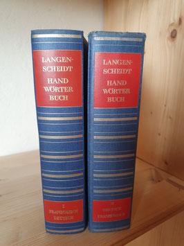 2er Band Langenscheidts Wörterbuch Deutsch/Französisch