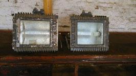 1 Paar Scheinwerfer Aluguss Wandlampen Nr 0410