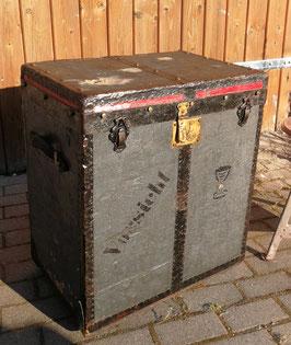 alte Transportkiste Überseekoffer antiker Koffer Truhe TOP Patina Nr 0307