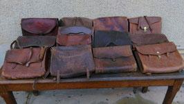 Lot antiker Ledertaschen Schulranzen Ranzen um 1900