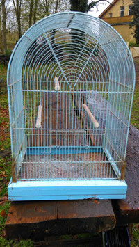 großer alter Vogelbauer Vogelkäfig 0501