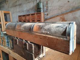 altes Bonbon Präsentierkasten Auslageregal mit Klappen 1404indus