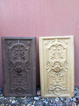 alte historische Ofenplatte aus Gusseisen Jugendstil Nr 2906-05