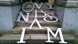 alte Werbebuchstaben Aluminium silbern 0501rest