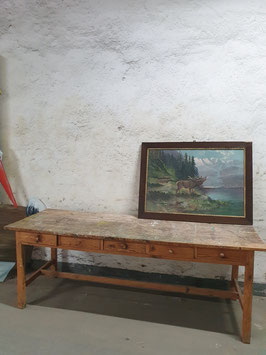 Sensationeller alter Werktisch mit toller Patina Nr 2906
