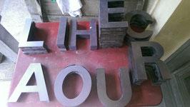 alte Buchstaben Kunststoff broncé-schimmernd Nr 3009rest