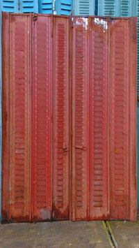 1 Paar antike Fensterläden aus Metall 2907-02