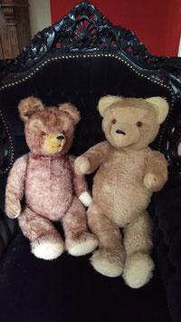 2 sehr große alte, antike Teddybären Nr 0410-01