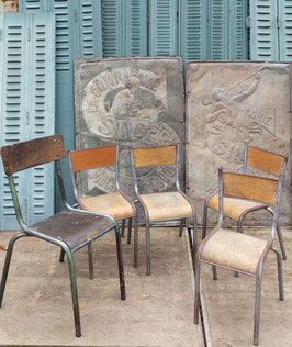 alte Kinder Bauhaus Schulstühle Stühle VINTAGE Lot 1502kid