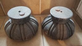 1 Paar dekorative Holzornamente Eichenholz NR 2803