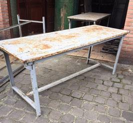 alte Eisentische Metalltisch Klapptisch Werkbank nr 0604