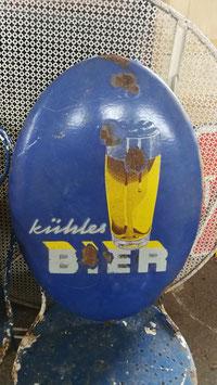 """altes Werbeschild Emailleschild """"kühles Bier"""" Nr 0804-02"""