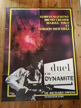 "altes Kinoplakat Filmposter XXL 157 x 115 cm ""Duel à la Dynamite"""