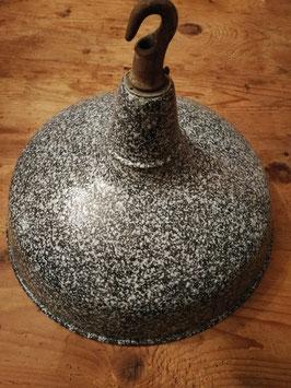 außergewöhnlich schöne Emaille Hängeleuchte Fabriklampe Nr 1601