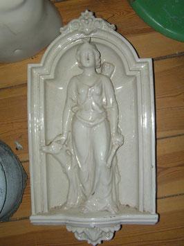 Große Jugenstil Zierkachel Ofenkachel mit Figur 2006