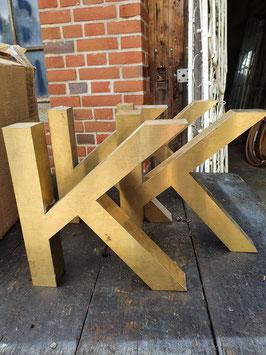 alte Buchstaben Edelstahl gold 0209