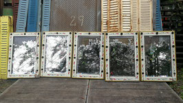 5er Set antike Spiegel vom Jahrmarkt Schminkspiegel