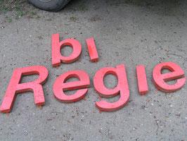alte Metall Buchstaben Vintage Nr 0803 rot