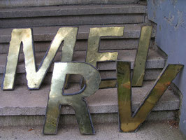 alte Messing Buchstaben Vintagebuchstaben (rest)