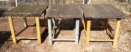 alter Tisch aus einer Werkstatt gelb oder grau NR 1206