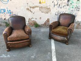 1 Paar große alte antike Clubsessel Nr 1012