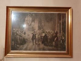 Sehr altes Bild Druck oder Stich Musiker in Versailles?