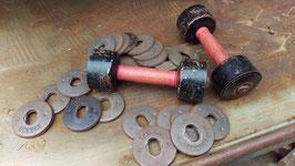 1 Paar antike Hanteln mit austauschbaren Gewichten Nr 1911
