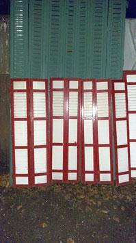 alte Holz Fensterläden für Terrassentür 142 x 130 h
