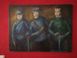 "Bild Acryl oder Öl ""Drei Soldaten"""