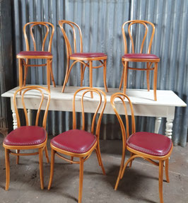 6er Set alte antike Bugholzstühle Holzstühle Thonet/Kohn 0203