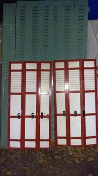 alte Holz Fensterläden für Terrassentür 140 x 140 h