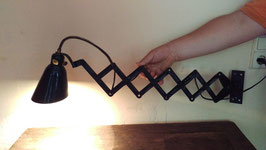 alte Scherenleuchte Scherenlampe für Wandbefestigung Nr. 0509-03