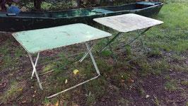 antiker Jugendstil Klapptisch Gartentisch Eisentisch 110cm