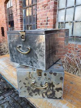 alte edle Geldkassetten Schließfachkasten Aufbewahrungsbox Nr 1203-02
