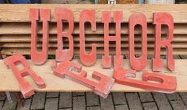 Witzige Typo alte Buchstaben rot Nr 0309