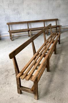 Antike Holzbank mir Rückenlehne 3 m Nr 2805
