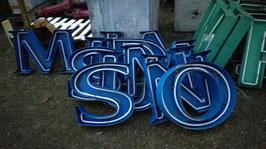 alte Leuchtbuchstaben blau 43 cm (rest)
