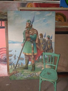 altes Wikingerbild Gemälde Ritter Mittelalter