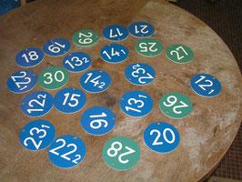 Nummernschilder Zimmernummern Zahlen aus Hotel