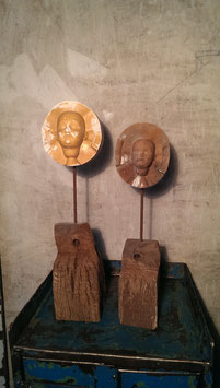 2er Set alte antike Puppe Gießform Puppenkopf Nr 0811-01