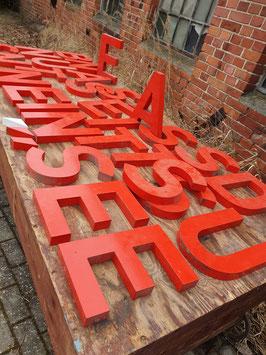 alte Buchstaben orange-rot 30 cm Nr 1304